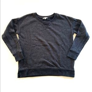 AEO Crew Neck Sweatshirt Black Silver Metallic M